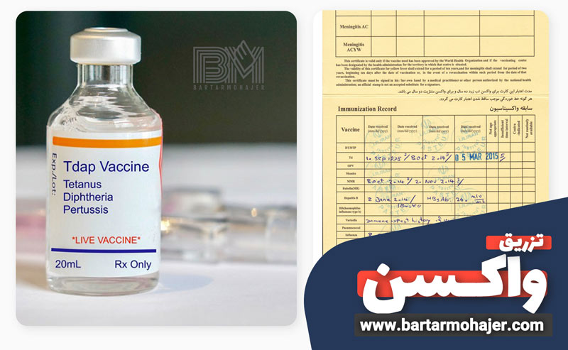 انجام واکسیناسیون و دریافت کارت زرد واکسن ملی